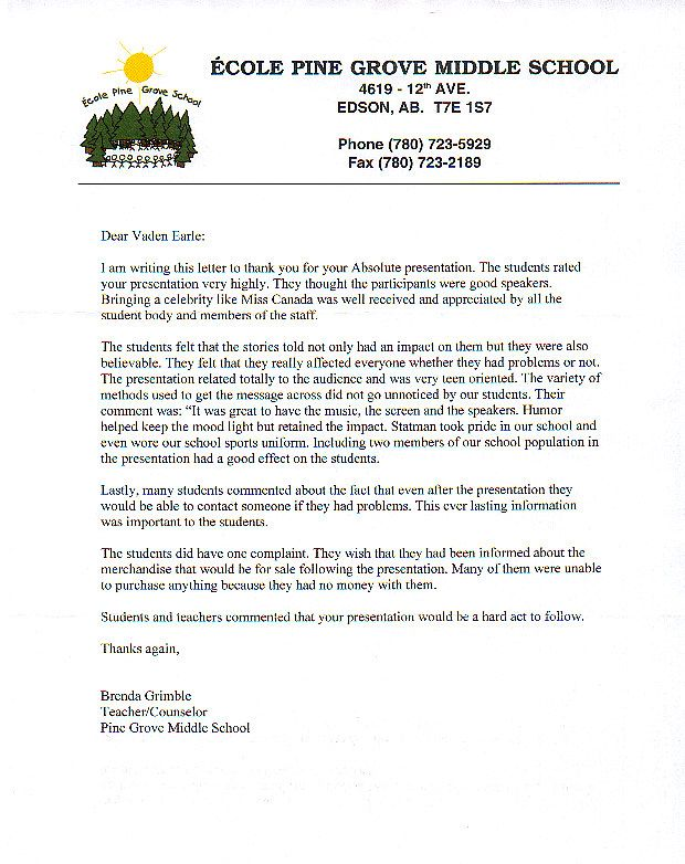 Letters Of Recommendation For Student Letter