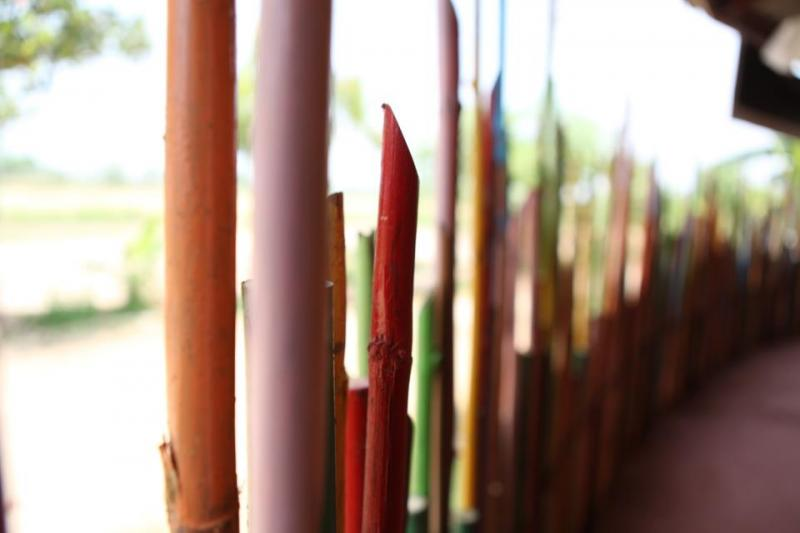 Bamboo Poles and Hearts Filled With Hope