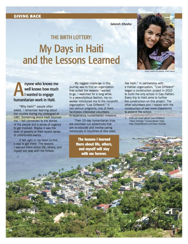 The Birth Lottery: My Days in Haiti and the Lessons Learned